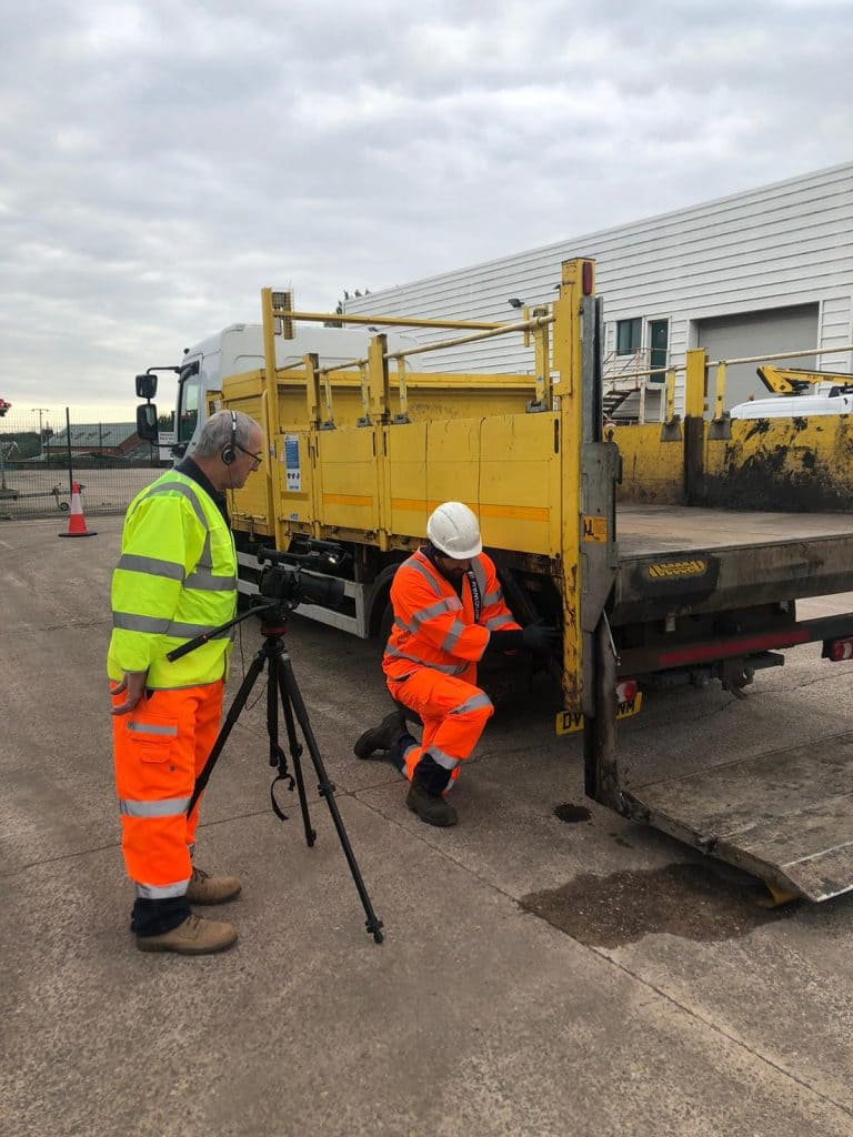 CCS films bespoke tail lift inspection and testing training video for Ringway Eurovia