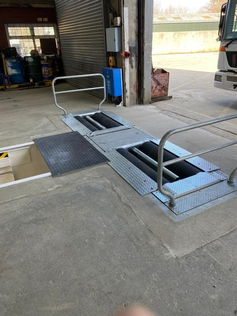 Garage equipment installation project update at Biffa depot, Anglesey