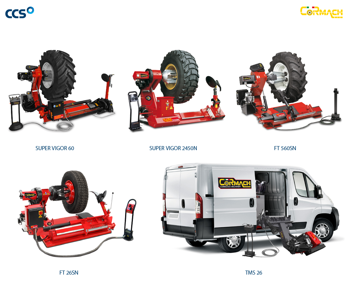Photo of tyre change range for commercial vehicles provided by CCS Garage Equipment